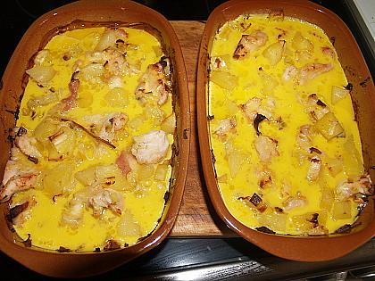 zapečené brambory s kuřetem