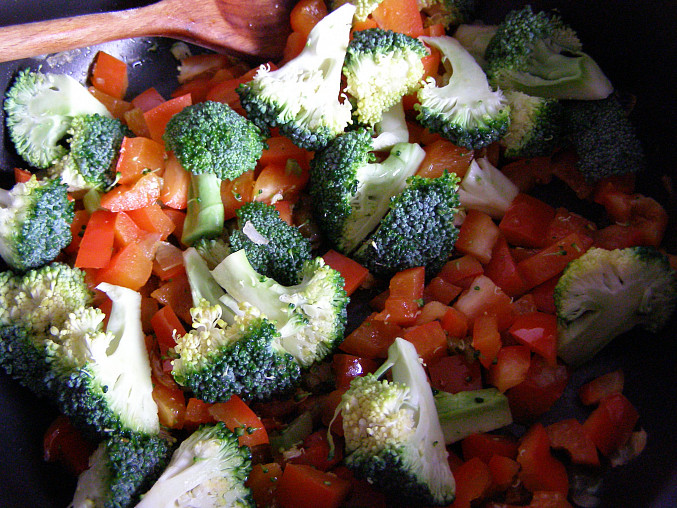 brokolice před dušením