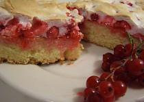 Medový rybízový koláč