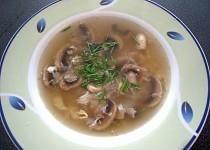 Nedělní žampionová polévka
