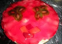 Nepečený dort s ovocem