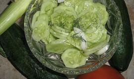 Okurkový salát s koprem