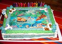 Orechovo šlehačková dorta