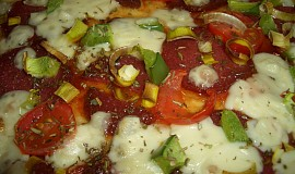 Pizza se salámem a sýrem