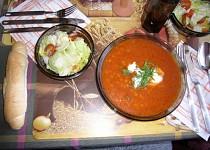 Rajská polévka s kroupami