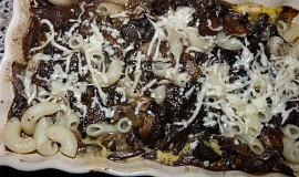 Těstoviny s houbami a sýrem