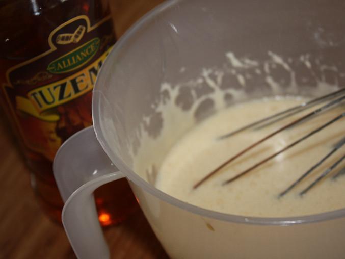 Vaječný koňak, ... příprava, ještě bez rumu...