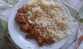 Vykoštěná kuřecí stehýnka s rýží