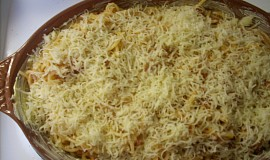 Zapečené špagety se zeleninou