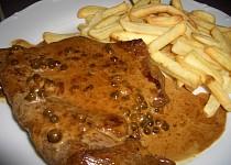 Biftek na zeleném pepři