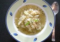Kapustová polévka s rýží