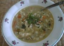 Kedlubnová polévka s brokolicí a květákem