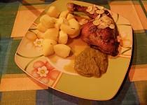 Kuře s česnekovou omáčkou