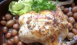 Kuře se sýrovou nádivkou