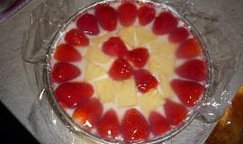 Nepečený svěží dortík