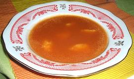 Rajská polévka s krupičkovými haluškami