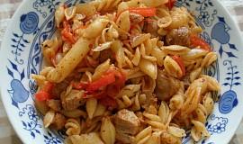 Sójové maso s těstovinami