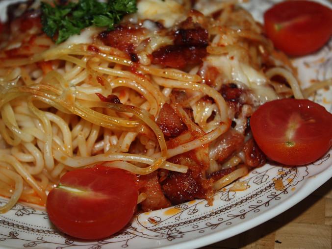 Zapečené špagety se sýrem, Zapečené špagety se sýrem