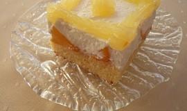 Broskvový koláč z pudingového těsta