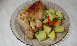 Marinovaná kuřecí stehna se žampióny