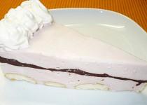 Nepečený kefírovo - višňový dortík