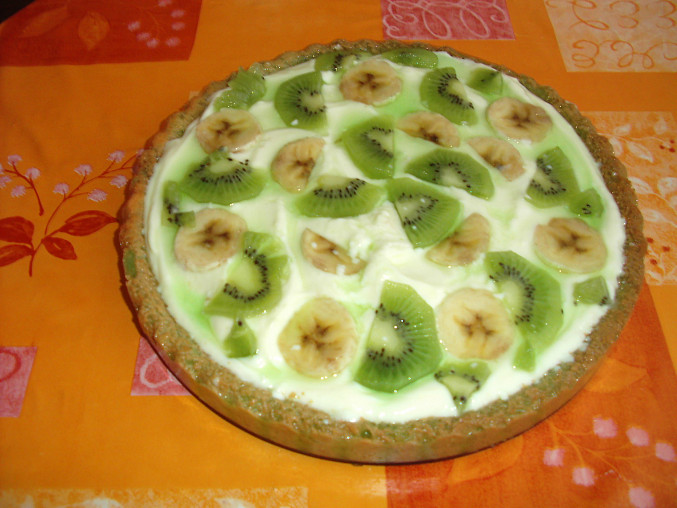 Ovocný dort s tvarohovopudinkovým krémem