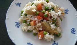 Rýžový salát se žampiony