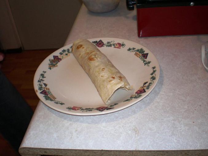 Zamotaná moučná tortilla