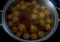 Žampiónové knedlíčky do polévky