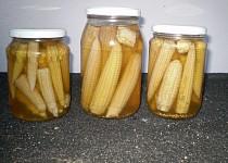 Zavařená kukuřička-jako okurky