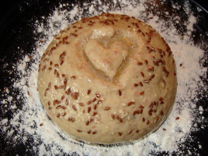 Bagetkový chlebík před vykynutím