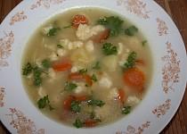 Bramborová polévka s haluškami
