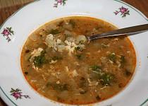 Kedlubnová polévka s rýží