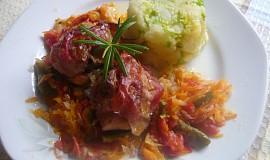 Králičí hřbet v zelenině a bylinkách
