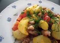 Opekané kuřecí maso s bramborami
