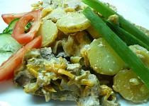 Panenka na houbách a zelenině