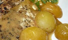 Pepřové řízky s meruňkovou omáčkou