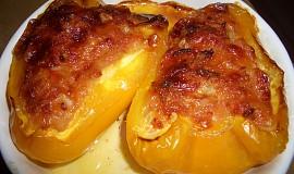 Plněné papriky olomouckými tvarůžky