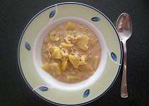 Pórková polévka s vločkami