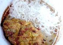 Sekaná ze zelí a rýžové nudle