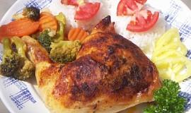 Opilé kuře se zeleninou