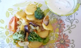 Pečená zelenina s bylinkovým tvarohem