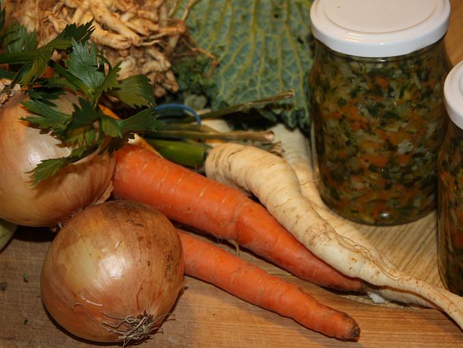 Polévková zelenina na zimu, Polévková zelenina na zimu