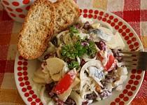 Rybí salát s fazolemi