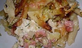 Zapečené bramboro-těstoviny s brokolicí