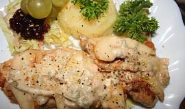 Kuře zapečené s hruškou a gorgonzolou