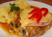 Kuřecí plátky s česnekem a Camembertem