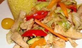 Kuřecí směs se zeleninou (čína) z woku