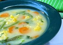 Květákovo-fazolková polévka