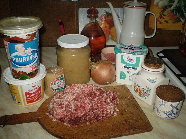 Dobrota z mletého masa, ingredience...